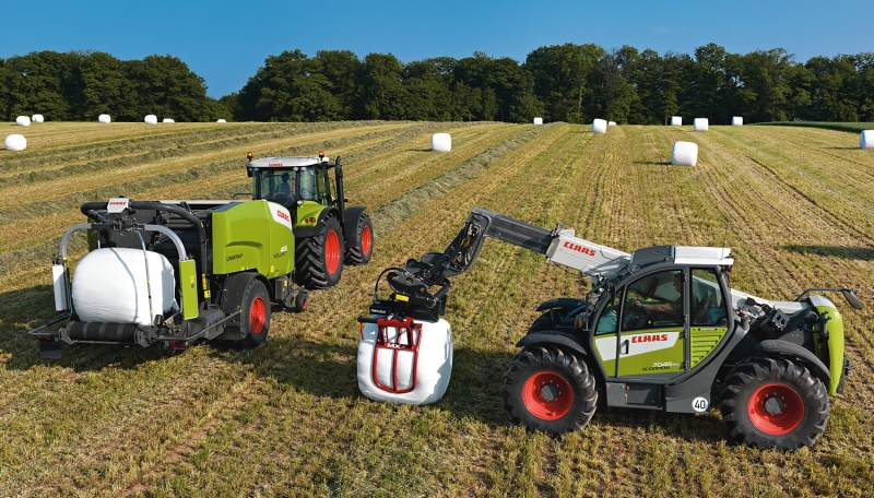 Telehandlers for large farming projects in the Middle East, Africa...